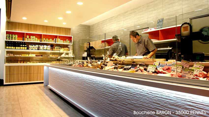Agencement Boucherie Traiteur Baron - Rennes (35)